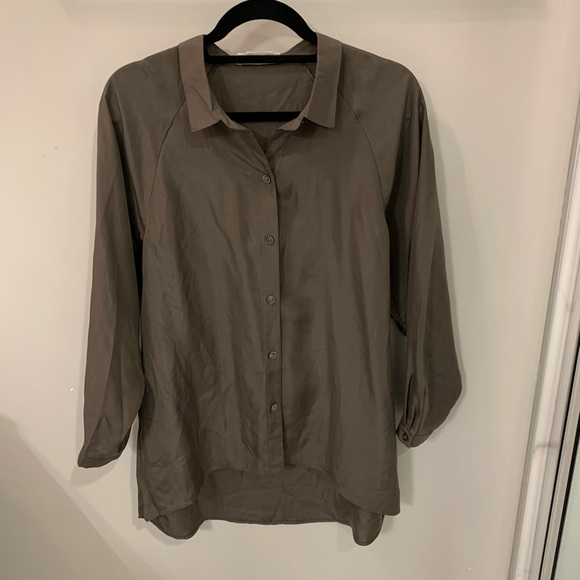 Silk button down
